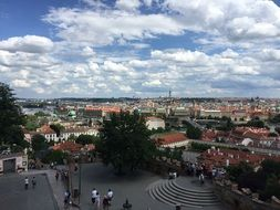 panoramic view of the square in Prague