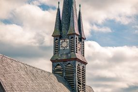 steeple of an dilapidated church
