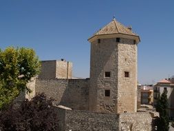 tower as a historical monument in spain