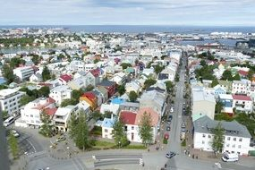 panoramic view of Reykjavik