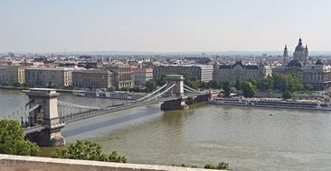 chain bridge over the Danube in Budapest