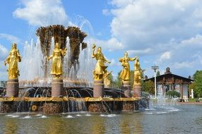 peoples' friendship fountain Moscow Russia
