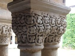ornamental church column