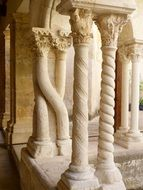 romanesque columns of a monastery