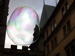 colorful soap bubble in the sky