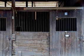 old wooden Horse Stable