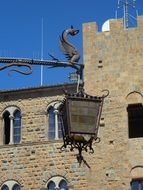 street light in Volterra