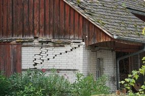abandoned timber framed house