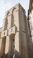 Palais Des Papes, Wall of medieval Gothic building, france, Avignon