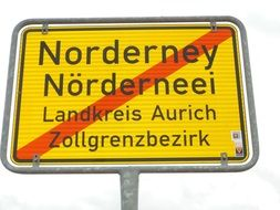 Town Sign Norderney Stationary