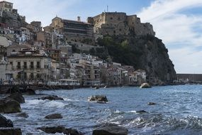 houses on a rocky coast in calabria