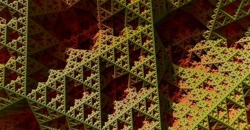 fractal pattern of triangles