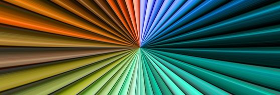 abstract pattern with rainbow lines