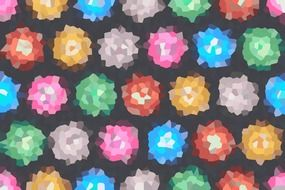 background with multicolored flowers