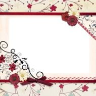 ornamental frame for scrapbooking