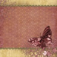 paper with butterfly for scrapbooking