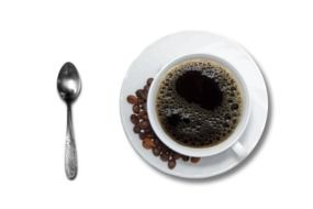 isolated cup of black coffee