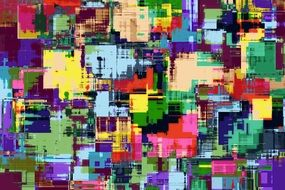 abstract pattern with multicolored texture
