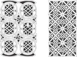 black-and-white Gothic ornament