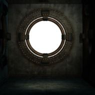 round window in the room