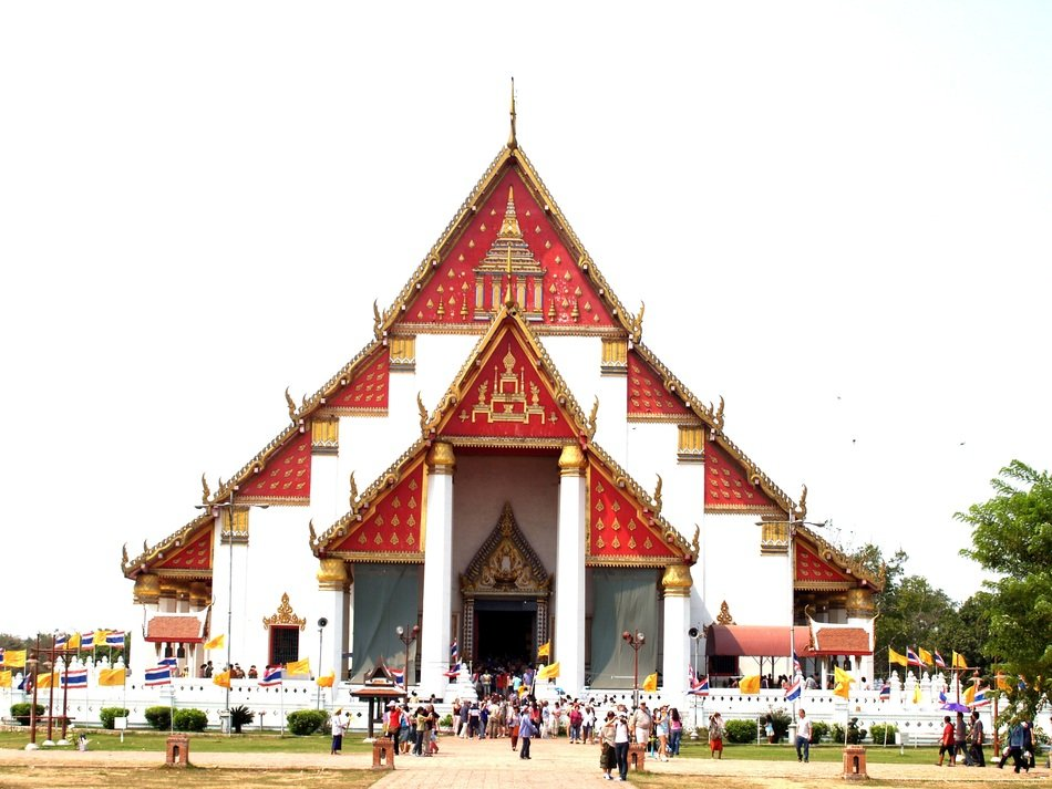 bright triangular building in Thailand