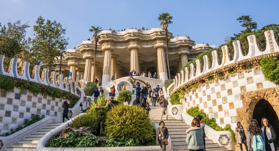 architecture in Guell Park in Barcelona