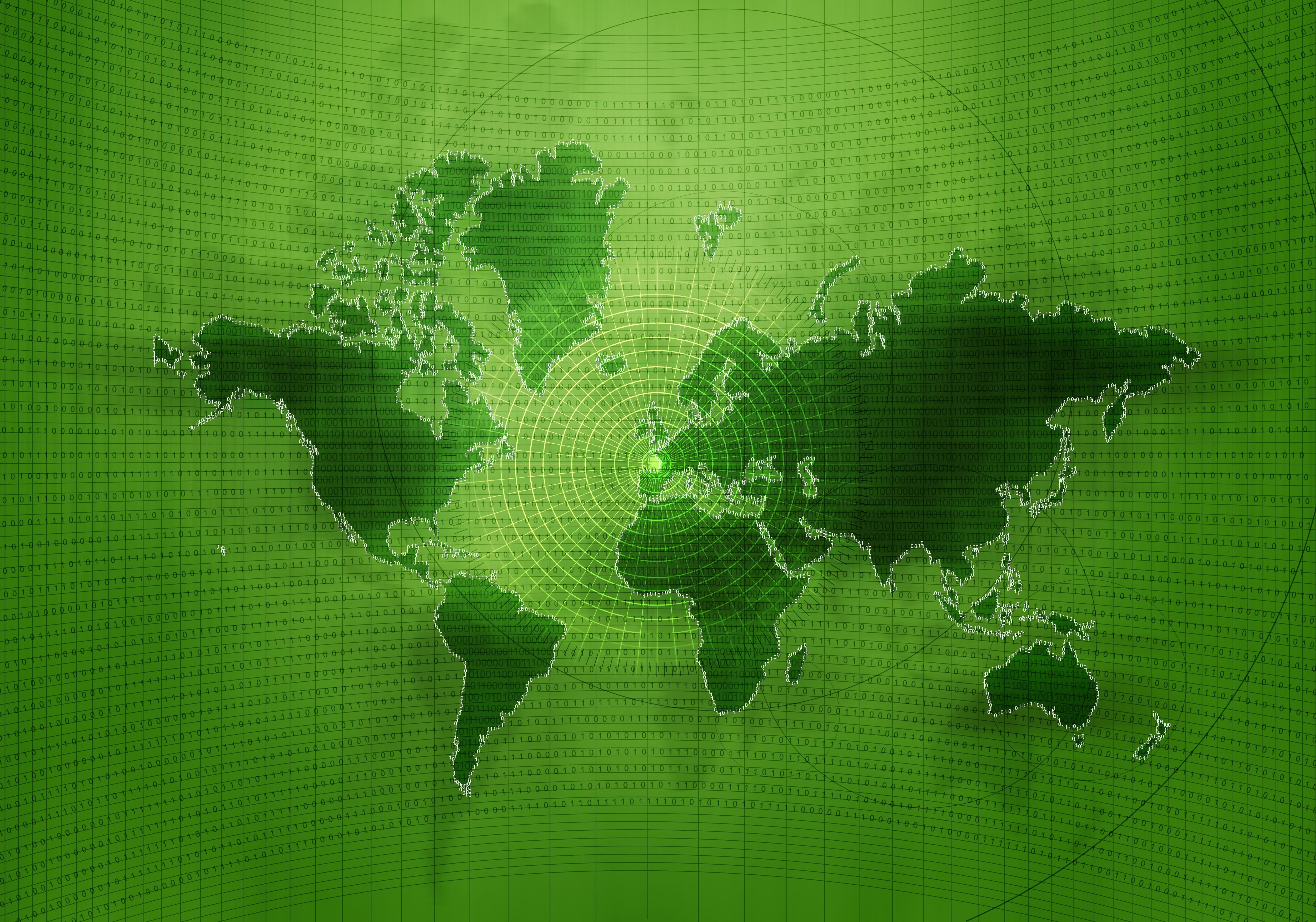 Binary Wallpaper Green