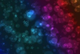 wallpaper with blue, green and purple stars