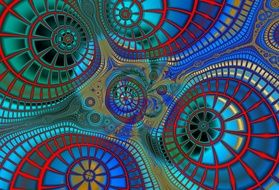 Fractal Abstract Line Wave
