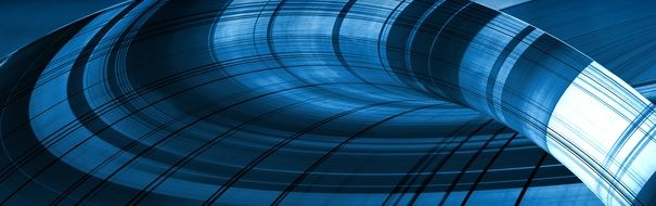 banner of blue abstract swirl