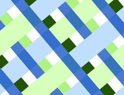 Plaid Diagonal Geometric Shapes