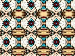 beige blue abstract pattern