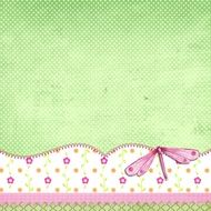Background Page Scrapbook Green