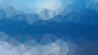 polygons on a blue background