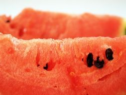 watermelon slice close up