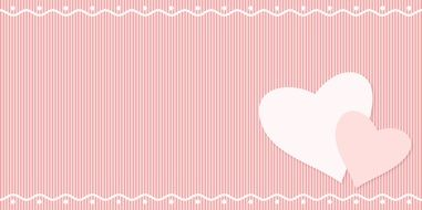 pink and white heart on a pink background