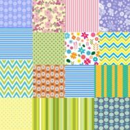 background with patchwork pattern