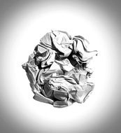 crumpled paper on a white background