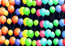 background of colorful balloons