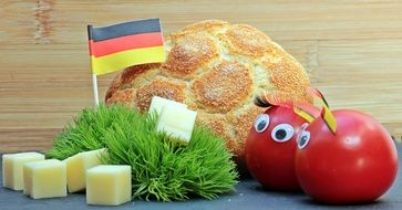 products near the german flag