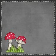 Kids Fairytale Background Grey