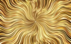 a whirlwind of golden waves
