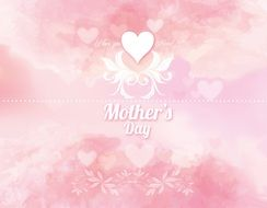 tender pink greeting card for Mother's Day