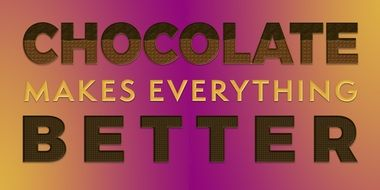 quotes about chocolate on a colorful background