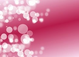 pink background with blurred points of light