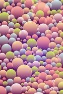 colorful balls on the pattern