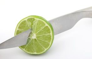 cutting of a lime