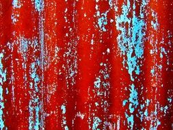 Background Red Paint Rusty