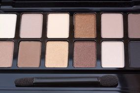 eye shadows in nude colors