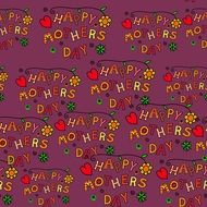 repeating inscription happy Mother\'s Day